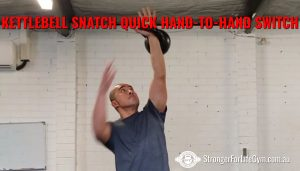 KETTLEBELL SNATCH QUICK HAND TO HAND SWITCH